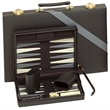 "Black & Gray Backgammon Set -15 in. - Backgammon set comes with a 15"" board with chips, dice, cups and a doubling cube."