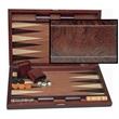 """Wood Inlay Backgammon Set in Beachwood- Tournament - Wood inlay backgammon - 19""""."""
