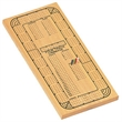 Classic Cribbage Set-Solid Wood 4 Track Board w/ Metal Pegs - Four track natural wood.