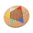 Chinese Checkers Set with Glass Marbles - 11.5 in. - Wood Chinese checkers set with marbles.