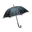 "Domestic Nylon Fashion Umbrella - Domestic nylon fashion 48"" arc umbrella with wood shaft and curved handle."