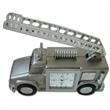 Clock - Metal fire truck shape desk clock, batteries included.
