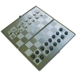 Game - Metal magnetic slim executive travel chess / checkers game set.