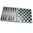 Game Set - Magnetic 3 in 1 metal case with chess, checkers and backgammon set. CLOSEOUT