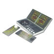 Game set - Metal 3-in-1 travel game desk casino set includes roulette, blackjack and craps.