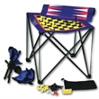 Travel table - Magnetic travel chess, checkers, backgammon game board with 2 chairs.