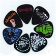 Guitar Pick - Custom, black celluloid guitar pick with full color imprint.