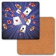 Coaster - Coaster with 3D lenticular effects images of playing cards. Blank.