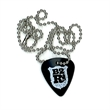 "Guitar Pick Necklace - Custom celluloid guitar pick necklace with 18"" long ball chain."