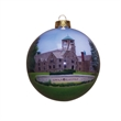 Christmas Tree Ornament - Christmas glass ornament with complex artwork  hand painted.