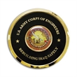 """Coaster - Coaster with 1 5/8"""" printed insert with clear epoxy on leather."""