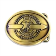 Belt buckles - Die struck brass belt buckles with antique brass finish.