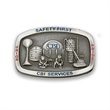 "Belt buckle - Zinc die cast metal alloy belt buckle, up to 3 1/2"" x 2 1/2""."