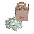 1/3 lb. box of butterscotch - One-third pound of hard butterscotch candies in rectangular Kraft paper gift box.