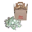 1/3 lbs of mints - One-third pound of mints in customizable rectangular brown paper Kraft gift box.