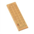 Classic Cribbage Set-Solid Wood 2 Track Board wi/Metal Pegs - 2 track wood cribbage game set.