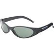 Turbo Wrap Sunglasses - Wraparound sunglasses with matte black frame and neutral lenses.