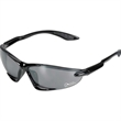 Competitor Sunglasses - Streamlined wrap sunglasses with a black frame and gray lenses.
