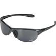 Eagle Sunglasses - Metallic finish frame sunglasses with semi rimless smoke lens.
