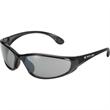 Sprint Sunglasses - Matte black wrap style sunglasses with smoke lens.