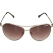 Maverick Sunglasses - Gold aviator-style frame sunglasses with smoke lenses.