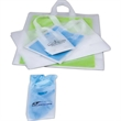 Frosted Shopping Bag - High-density 3ml bag with cardboard reinforced bottom.