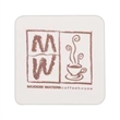 80 pt. Pulp Board Coaster - 3.5 square inch drink coaster made of recycled pulpboard.