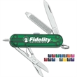"""Signature - Pocket knife featuring a 2 1/4"""" handle, blade, scissors, nail file, screwdriver tip, tweezer and retractable ballpoint pen."""