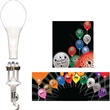 White LED with Silver Color Balloon