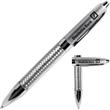 Pen - Margate silver net barrel pen.