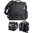 Cargo Compu-Pack - Briefcase/backpack with laptop compartment, MP3 holder, ear bud port and convertible straps.