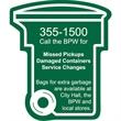 Trash / Recycling Bin Magnet