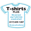 """T-Shirt Magnet - 3.16"""" x 3.75"""" t-shirt shaped magnet with four color process customization."""