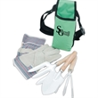 Garden Tool Set with Apron - Garden tool set with belted apron, work gloves, spade, trowel and cultivator
