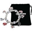Gaming Charms Stretch Bracelet - Charm bracelet with various gaming-themed charms and stretch to fit most wrists.