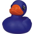 Blue rubber duck - Rubber blue duck squeaking toy, balanced for floating.
