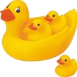 Big famiily rubber ducks - Squeaking 4-pc big family rubber ducks.