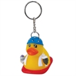 Rubber pool party duck keychain - Rubber pool party designed duck key chain.