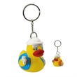 Construction rubber duck key chain - Rubber safety construction designed duck key chain.