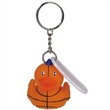 Basketball duck key chain - Rubber basketball designed duck key chain.