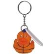 Basketball duck key chain - Rubber basketball designed duck key chain.