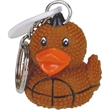 Football duck key chain - Rubber football designed duck key chain.