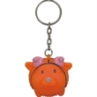 Animal shape key chain - Rubber animal shape key chain with an imprintable key tag to show your company logo.