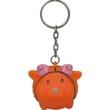 Animal shape key chain - Rubber animal shape key chain with an imprintable key tag to show your company logo.