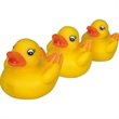 Duck tamily toy - Rubber 3-pc duck family squeaking toy, balanced for floating.
