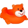 Orange beaver soap dish - Squeaking rubber orange beaver soap dish.