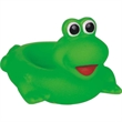 Rubber green frog soap dish - Squeaking rubber green frog soap dish.