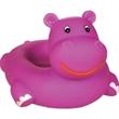 Rubber hippo soap dish - Squeaking rubber purple hippo soap dish.
