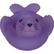 Rubber sea lion soap dish - Squeaking rubber purple sea lion soap dish.