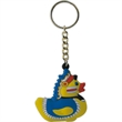Duck key chain - Rubber yellow 2D lil' Indian chief designed duck key chain.